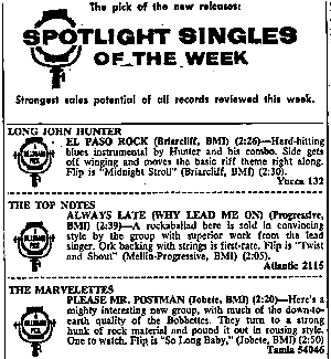 Billboard 1961年8月14日